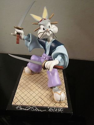bugs bunny autographed statue karate looney tunes