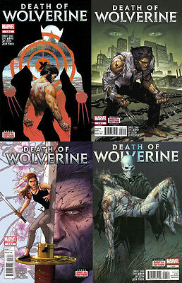 DEATH OF WOLVERINE - COMPLETE SET ISSUE 1 2 3 4 - SOLD OUT FIRST 1st PRINTS