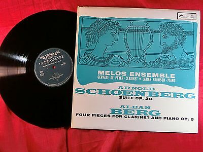 Arnold Schoenberg Suite Op. 29 The Melos Ensemble Of London Gervase De Peyer