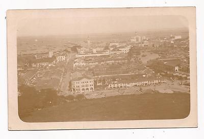 SINGAPORE - Harbour from Fort Canning; vintage real photo card.