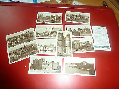 Vintage -Cope Cigarette Cards -- Castles Series - All Listed