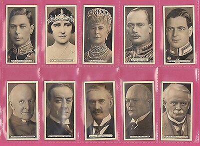 People  -  Ardath  -  Scarce  Set  Of  50  Empire  Personalities  Cards  -  1937
