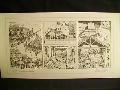 """Vintage Signed Limited Edition Print  """"The Taylors Vintage …"""" by Willie Rushton"""
