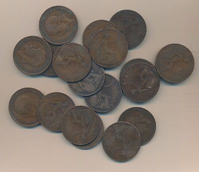 Great Britain - Large Penny 1918 Wwi (14 Coins)