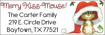 MERRY KISS-MOUSE - Return Address Labels! So cute!
