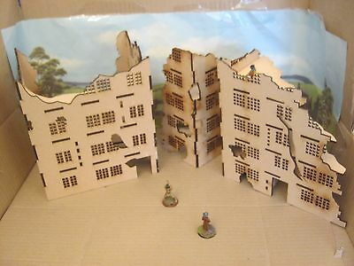 28mm Large Wargame Ruins set A & B Factory  House Scenery Buildings Bolt Action