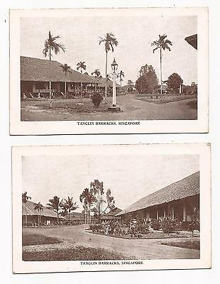SINGAPORE - Tanglin Barracks; two vintage printed cards.