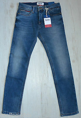 TOMMY HILFIGER BOYS JEANS STEVE SLIM TAPERED COMFORT STRETCH NEU Gr.140 / 10 Y