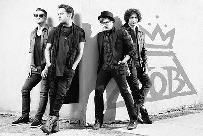 Fall Out Boy FOB  black and white 24 x 36  poster