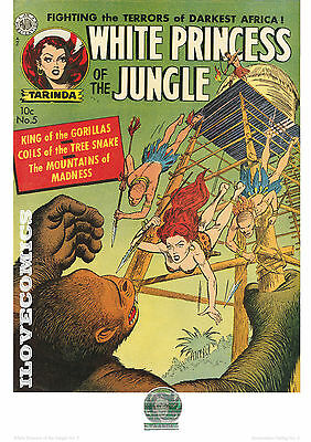 Comic Cover Kunstdruck - White Princess of the Jungle # 5   P-6   50ger Jahre