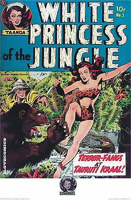 Comic Cover Kunstdruck - White Princess of the Jungle # 1   P-2   50ger Jahre