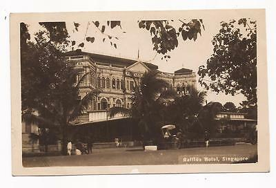 SINGAPORE - Raffles Hotel; 1920s Real Photo Card.