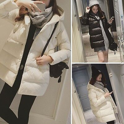 New Pregnant Women Coat Maternity Loose Winter Outerwear Simple Hooded Jacket