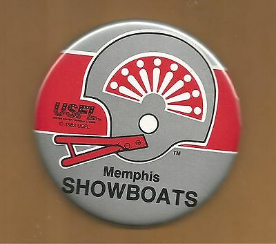 Memphis Showboats ~ USFL Licensed Button ~Excellent Condition