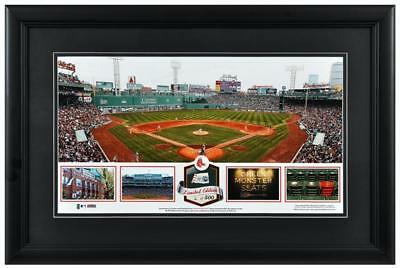 Framed Panoramic Photo Fenway Park MLB Boston Red Sox Stadium w/Game-Ball-LE