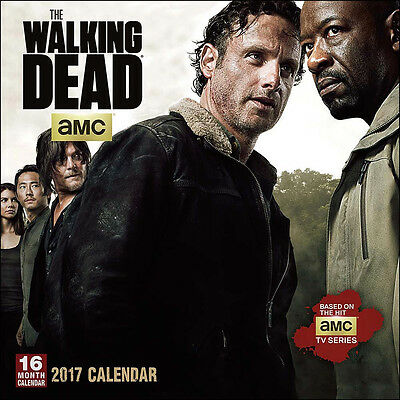 The Walking Dead TV Series 16 Month 2017 Wall Calendar, NEW SEALED