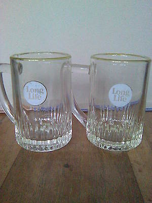 2 Ind Coope Long Life Half Pt Crown Stamped Tankards