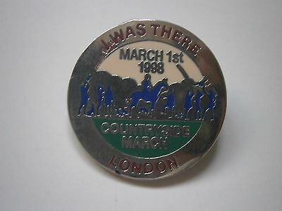 Countryside March I Was There 1998 Pin Badge