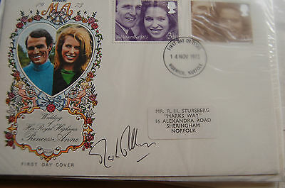 Princess Anne & Mark Phillips Wedding Fdc Signed Mark Phillips