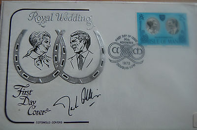 Princess Anne & Mark Phillips Wedding Fdc Signed Mark Phillips 7