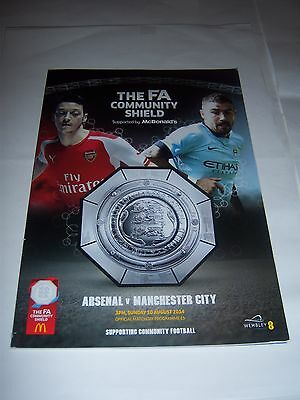 2014 FA COMMUNITY SHIELD - ARSENAL v MANCHESTER CITY - FOOTBALL PROGRAMME