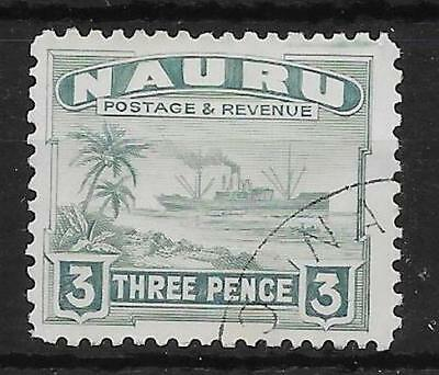 NAURU SG31B 1947 3d GREENISH-GREY USED
