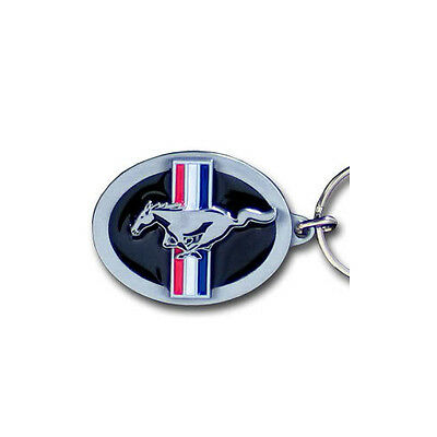 Ford Mustang Pewter Keychain Key Chain Keyring New