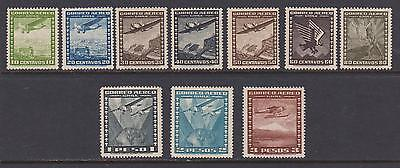10 Different F-VF OG NH Mint Chile Airmail issued 1934 to 1945 - I Combine S/H