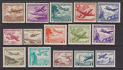 15 Different F-VF OG NH Mint Chile Airmail issued 1951 to 1962 - I Combine S/H