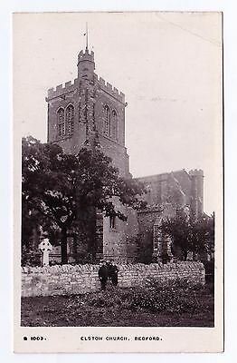 P3203 Original old RP postcard of Elstow Church, Bedfordshire