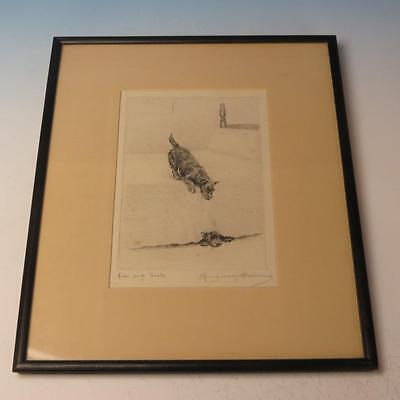 Marguerite Kirmse Dog Framed Etching Hide and Seek Playful Scottish Terriers