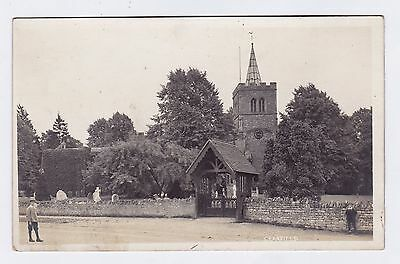 P3204 Original old RP postcard of Cranfield Church, Bedfordshire