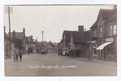 P3206 Original old RP postcard of North Bridge Street, Shefford, Bedfordshire