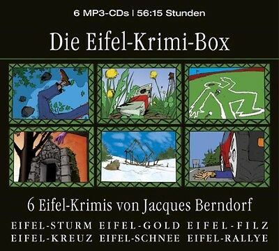 Die Eifel-Krimi-Box / 6 MP3-CDs, Jacques Berndorf