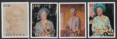 (95025) Guyana MNH Queen Mother Life & Times 95th Birthday 1995 unmounted mint