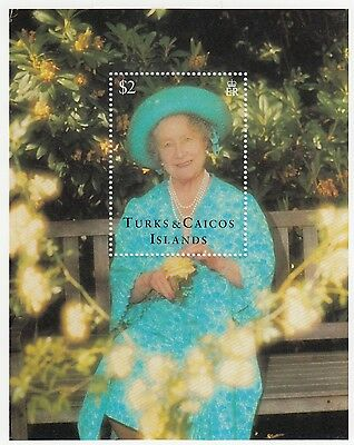 (95056) Turks & Caicos MNH Queen Mother 95th Birthday MS 1995 unmounted mint