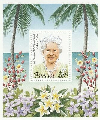 (95061) Jamaica MNH Queen Mother 95th Birthday minisheet 1995