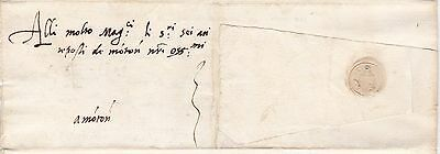 * 1559 Italian States Pre-Stamp Letter - Italy - Large Paper Seal