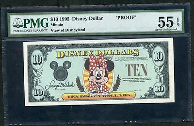 *1995 Disney 10 Dollar 'proof' With Minnie Mouse Pmg 55 Epq Please  Lqqk!