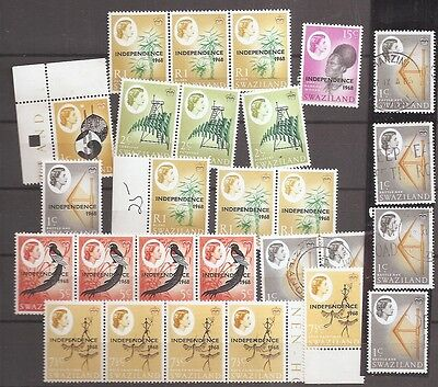 Swaziland 1968 Independence overprints MNH to R1 cat £25+ some used w8264