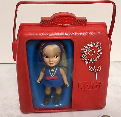 Vtg Heidi PocketBook Doll Remco Case Outfits&Accessories Pocket Book