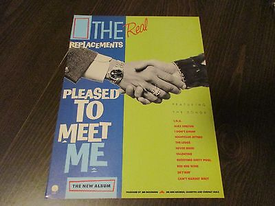 The Replacements - Pleased To Meet Me - Paul Westerberg 1987 Magazine Print Ad