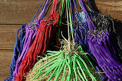 HARLEQUIN horse / pony HAYLAGE / SMALL HOLED HAYNET / HAY NET  various colours