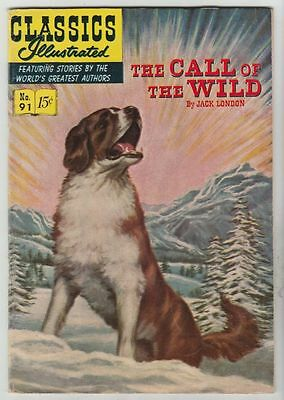 Classics Illustrated #91 The Call Of The Wild strict VF 8.0  High-Grade