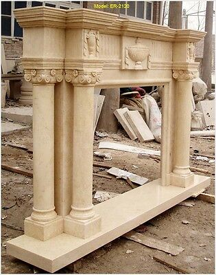 FromFactoryToU! CUSTOMIZE SOLID MARBLE FIREPLACE MANTEL SURROUND @PLS ASK PRICE@