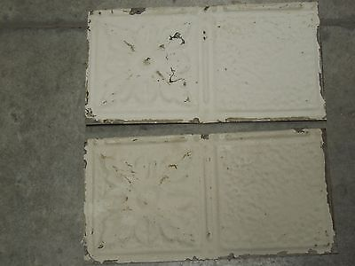 Old Antique ( Metal ) tin ceiling tile (2) 12x6