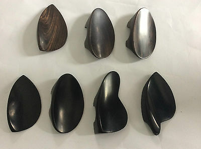 7pcs violin chin rests 4/4 sizes different styles ebony