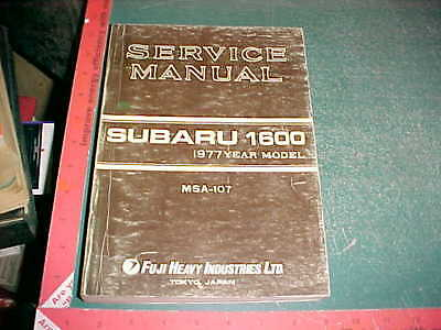 1977 SUBARU 1600 CHASSIS ENGINE LTD. BODY ELECTRICAL SERVICE MANUAL w/SUPPLEMENT
