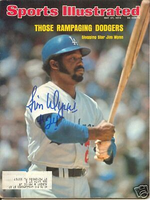 JIMMY WYNN  Autographed Sports Illustrated  DODGERS