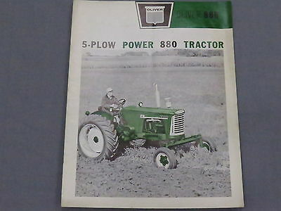 original 1962 Oliver 880 Tractor color sales Brochure Catalog